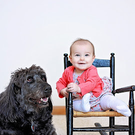Best friends by On the Lake Photography - Babies & Children Babies ( child, labradoodle, baby girl, baby, dog )