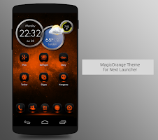 Screenshot of NextLauncher Theme MagicOrange