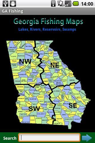 Georgia Fishing Maps - 14K
