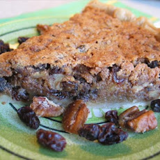 Tipsy Raisin Pecan Pie