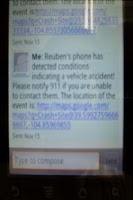Screenshot of Accident A!ert App