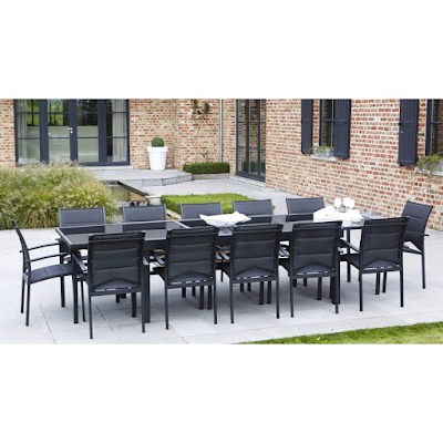 Acheter salon de jardin modulo 12 noir noir chaponost for Acheter salon de jardin
