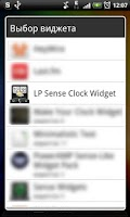 Screenshot of LP Sense skin + Clock widget
