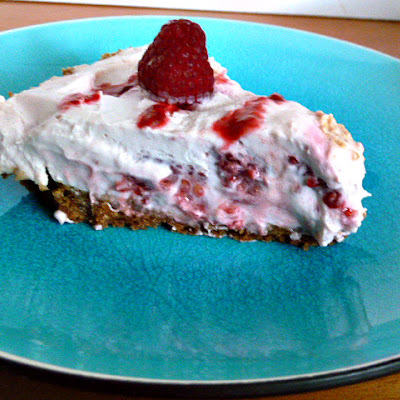No Bake Raspberry Cheesecake Pie