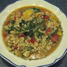 White Bean, Spinach, and Barley Stew