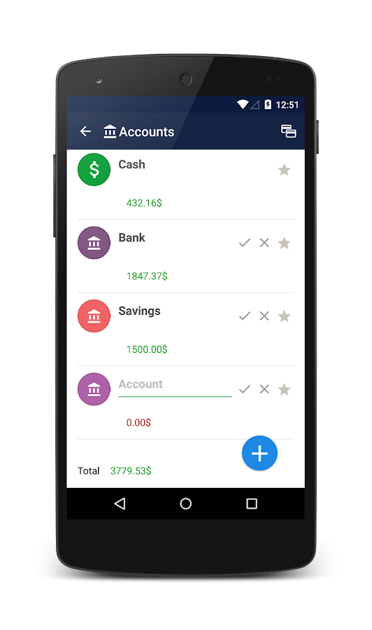 Home Accounting PRO Screenshot 2