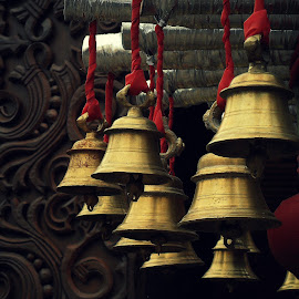 hanging from sound by Arka Sengupta - Buildings & Architecture Places of Worship ( hanging, bell, novices only, bells, worship )