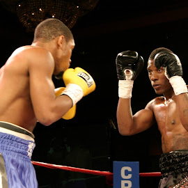 Caleb Caldwell in action. by Stephen Jones - Sports & Fitness Boxing