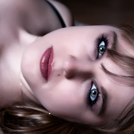Sam by Adriaan Oosthuizen - People Body Parts ( face, boudoir photography, blonde, rampix photography, eyes )