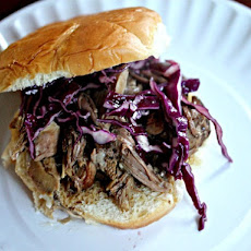 Slow Cooker Kalua Pork Sandwiches With Crispy Asian Slaw