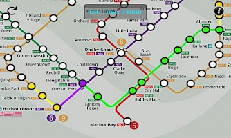 Screenshot of Singapore MRT Route