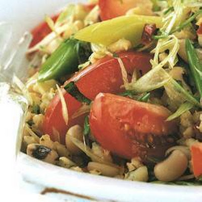 Minted Barley And Beans
