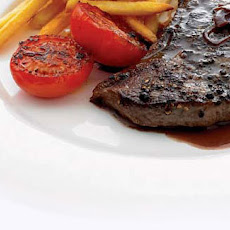 Peppered Steak With Shallot Sauce