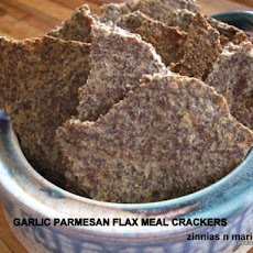 Low Carb - Garlic Parmesan Flax Seed Crackers