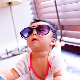 Don't I look cool with my sunny! by Judy Hu - Babies & Children Babies