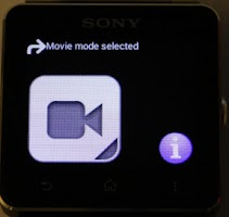 Screenshot of SONY CAM SMARTWATCH CONTROL