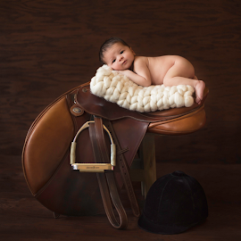 by Emma Stasko - Babies & Children Babies ( saddle, riding, baby, newborn )