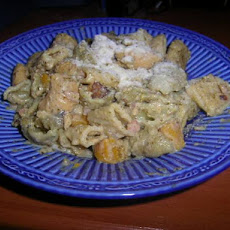 Pasta With Pumpkin & Pesto