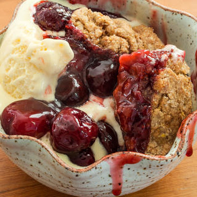 Fresh Cherry Cobbler