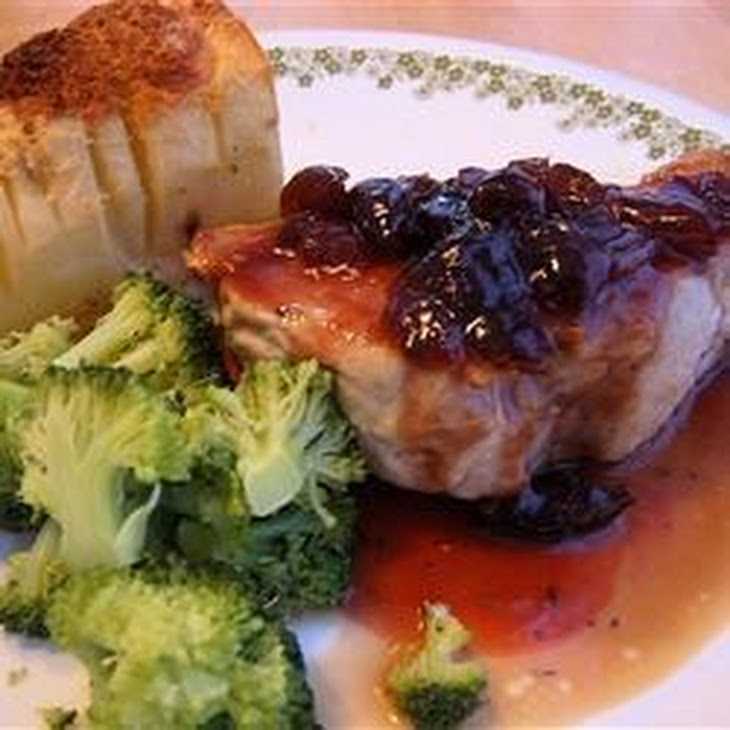 Pork Chops With Black Cherry Sauce Recipe | Yummly