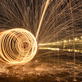Worms by Yh Tan - Abstract Light Painting ( #steelwool, #photography, #canon )