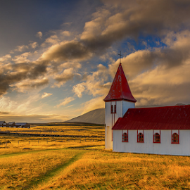 Hellnar Church by Roberto Melotti - Buildings & Architecture Places of Worship ( roberto melotti, iceland, wooden, church, hellnar, snæfellsnes, nikon d810 )