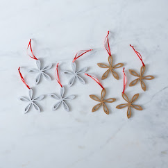Small Classic Laser-Cut Ornaments (Set of 4)