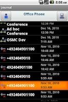 Screenshot of OpenScape UC