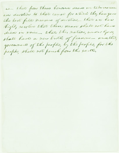 Abraham Lincoln, Gettysburg Address (Edward Everett Copy)