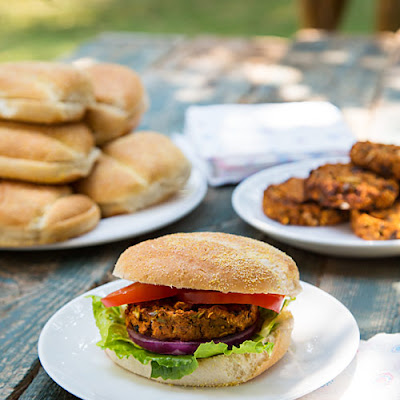 African-Inspired Sweet Potato and Black Bean Burgers