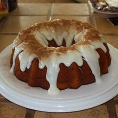 Spiced Pumpkin Cake with Rum Glaze