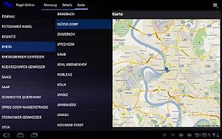 Screenshot of Pegel-Online