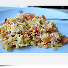 Scrambled Eggs with Cabbage and Chili