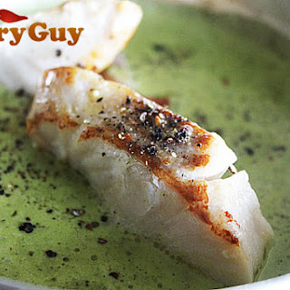 Spinach Curry With Pan Fried Cod