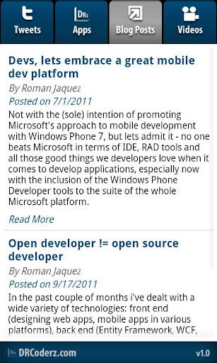 【免費生產應用App】DRCoderz App-APP點子