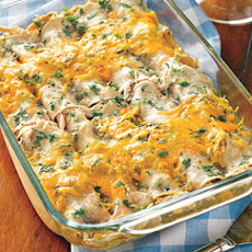 Chicken, Chili and Cheese Enchiladas