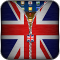 UK Flag Zipper Lock Screen APK for Bluestacks