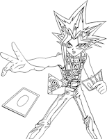 Screenshot of Yu-Gi-Oh Coloring