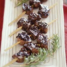 Filet Mignon Skewers with Balsamic Reduction