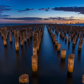 Princes Pier by Dimitrije Antonijevic - Landscapes Waterscapes ( melbourne, sunset, sea, pier, victoria, princes )