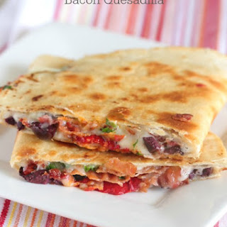 Cheesy Mediterranean Bacon Quesadilla