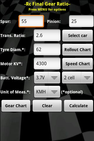 Rc Final Gear Ratio Calculator