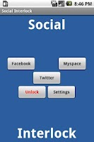 Screenshot of Social Interlock for Drinkers
