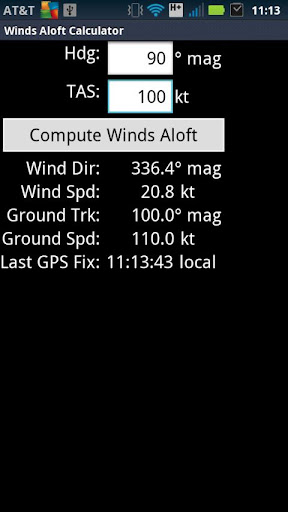 Winds Aloft Calculator