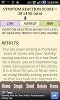 Screenshot of Stress Test and CBT Self-Help