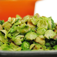 Apple-Blistered Brussels Sprouts