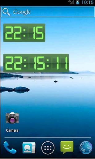 Digital Clock Green Pro