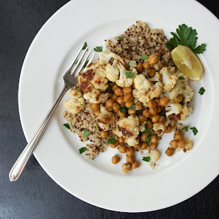 Roasted Cauliflower + Chickpeas + Mustard Dressing
