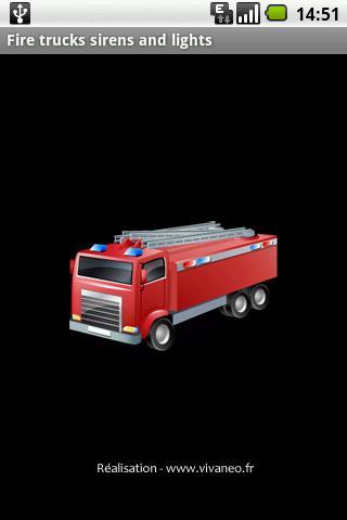 消防車警笛和燈光