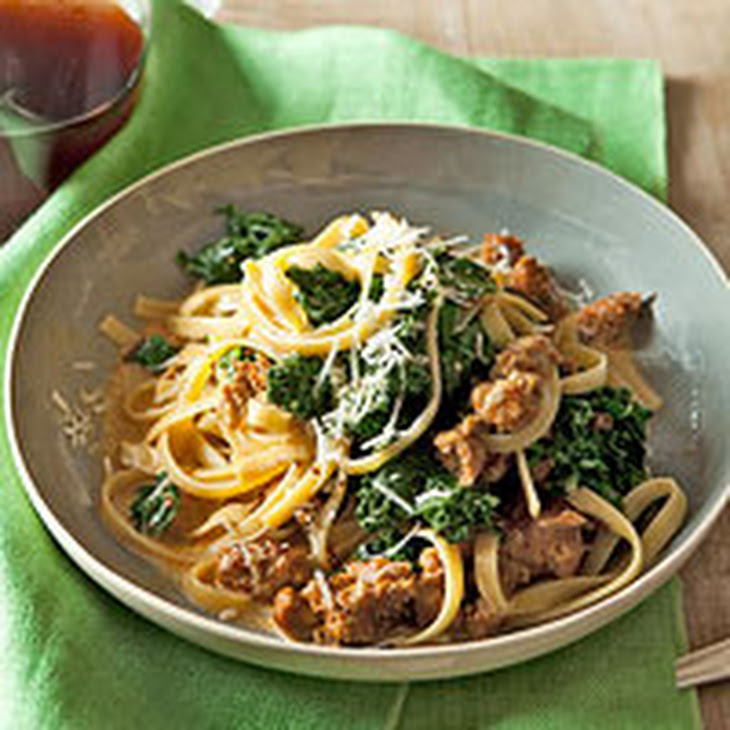 Fettuccine with Sausage & Kale Recept | Yummly